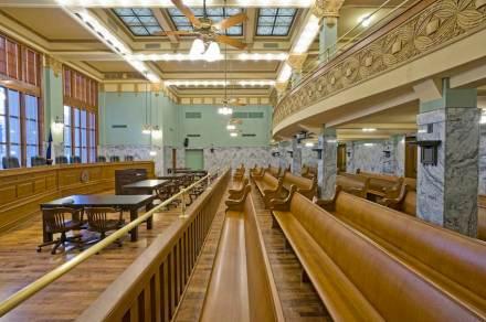 Zwei der Gerichtssäle wurden wieder in den Originalzustand versetzt.