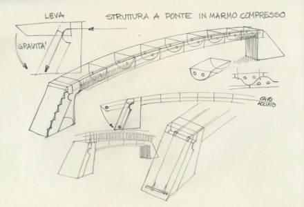 """""""Lithic Bridge"""" (Brücke aus Stein) nennen der Designer Raffaello Galiotto und der Ingenieur Alessandro Serafini ihre Konstruktionsidee, die sich ebenfalls gespannter Stahlseile bedient."""