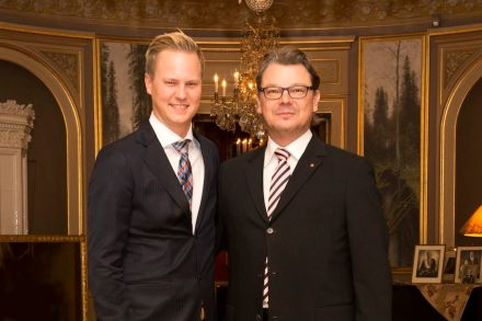Left: Thor-Anders Lundh Håkestad (CEO of Lundhs), right: Heikki Palin (CEO of Palin Granit). Photo: Marius Lundh Håkestad