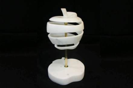 """Superficial Sin"", Carrara statuario marble & brass."