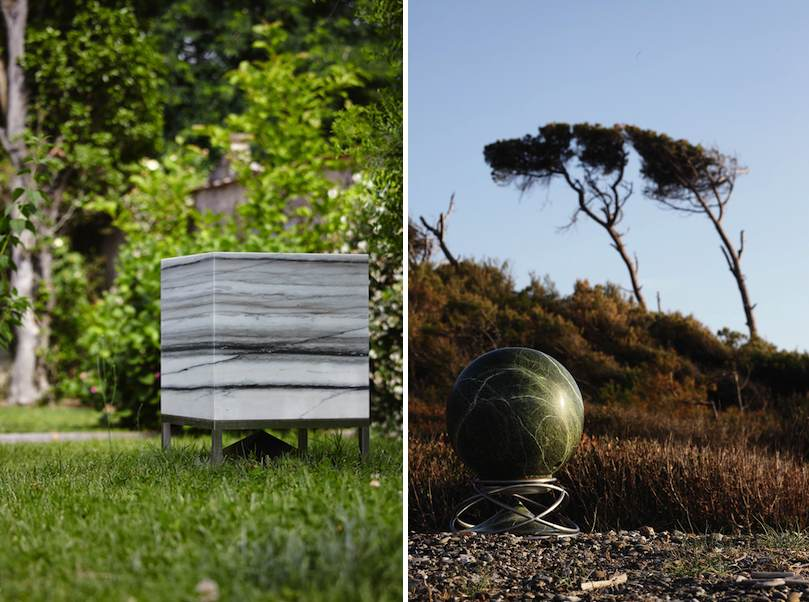 Marble or granite speaker boxes extend the horizon of for Marmo zebrino