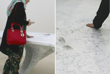 "Zaha Hadid, Citco: ""Moon Table"", Marmor Bianco Carrara. Fotos: Peter Becker"