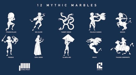 "Stone Group International: ""12 Mythic Marbles""."