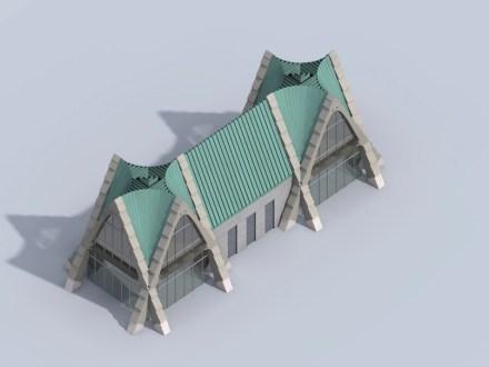 Generalmente, gli archi incrociati in questa maniera offrono la possibilità di costruzioni modulari.