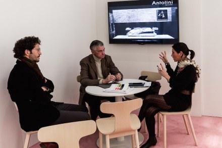 Enrica Cavarzan (right), Giulio Capellini (Middle).