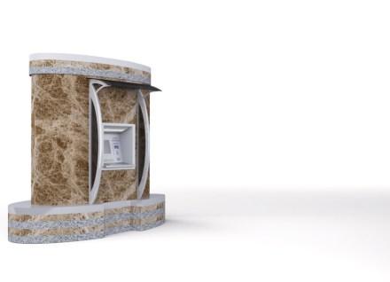 "Lobende Erwähnung, Kategorie Studenten: ""ATM Stone"", Sefer KURTOĞLU. Geldautomat aus Granit."