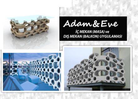 """3er Premio, Categoría Profesionales: """"Adam&Eve"""", Tanzer KANTIK. Dos piezas principales y dos complementarias permiten una gran cantidad de combinaciones."""