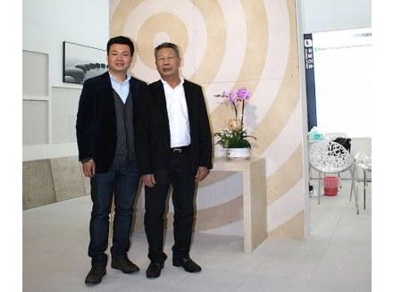Jeffrey y su padre Shuyan Lin. Foto: Peter Becker