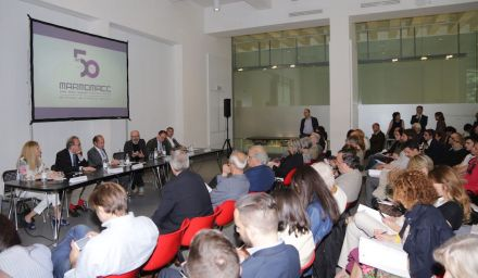 Press conference for Marmomacc 2015. Photo: Veronafiere