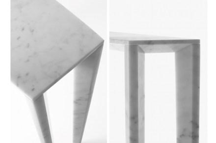 Resultan de nuevo muy originales los pies de las mesas, cuyo modelo son los zapatos de tacón alto.