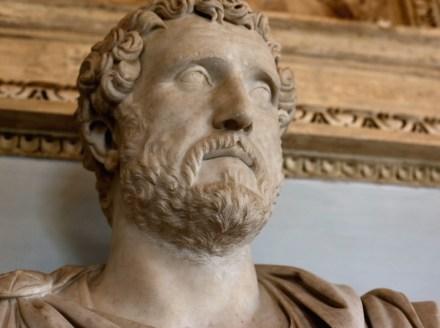Portrait of Antoninus Pius (140 A.D.), Luna (= Carrara) Marble, Capitoline Museums, Rome.