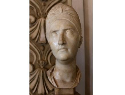 Portrait of Plotina (110-117 A.D.), Luna (= Carrara) Marble, Capitoline Museums, Rome.