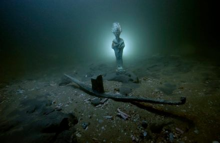 Bronze statue of Osiris' deity found in Aboukir bay.