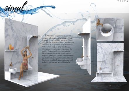 Students, Third prize category Turkish Bath and Bathroom: Melih Öz from Mimar Sinan Fine Arts University.