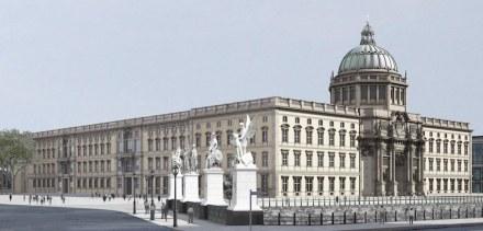 Ansicht von der Schlossbrücke beziehungsweise vom Ende der Straße Unter den Linden.