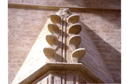 Category Heritage (buildings), 3rd Prize: Michèle Méric, stone leaves in the vestibule of the the Cathedral Saint-Pierre, Montpellier.