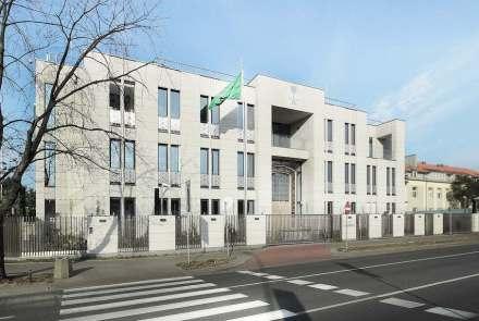 Mit einem Hauptpreis wurde die Architektur für die Botschaft Saudi Arabiens in Warschau ausgezeichnet.
