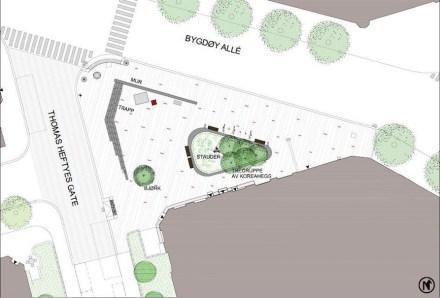 Die Gestaltung des Platzes hatten Grindaker Landskapsarkitekter übernommen.