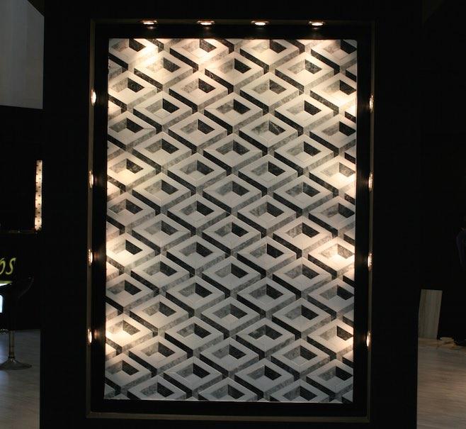 wandfliesen aus naturstein mit 3d effekten stone. Black Bedroom Furniture Sets. Home Design Ideas