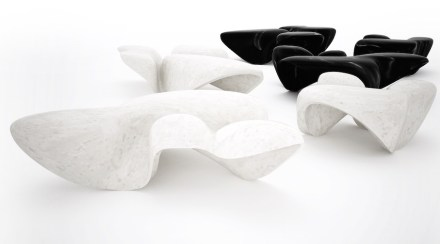 Zaha Hadid, Citco: Mercuric low tables.