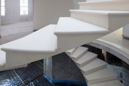 The Stonemasonry Company, Webb Yates: Stairwell in natural stone with a 320° twist.