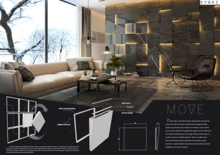 Professional designers, claddings for floor and wall, First Prize: Semih Yılmaz.