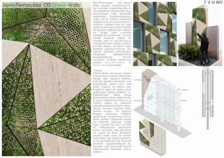 Professional designers, claddings for floor and wall, Third Prize: C. Hamdi Okumuş, E. Yağmur Çebi.