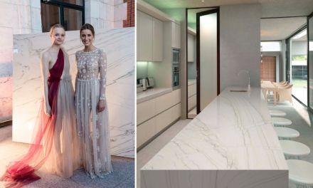 Levantina Fashion Night: granito White Macaubas, Naturamia Collection.