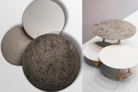 """Marella Ferrera, Lithea: side tables """"Nichi""""."""