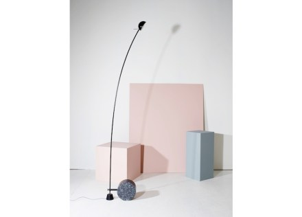 """Aerial"" was the name designers Bjørn van den Berg & Falke Svatum gave their lamps with a base in Lundhs Blue."