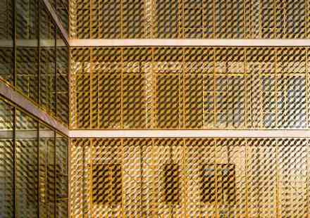 In the rear section of the complex steel decorative grids protect the offices from excessive sunlight inspired by the omnipresent Mashrabiya or Shanasheel.