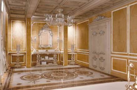 Budri: villa privada, cuarto de baño.