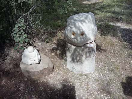 """Work realized at the """"Forth Stone Carvers' Festival"""" in the Red Yasil village of Perm Kray, Russia."""