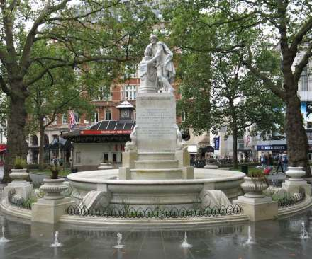 Shakespeare, Leicester Square, London. Photo: Filip Maljković / Wikimedia Commons