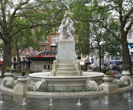 Shakespeare, Leicester Square, London. Foto: Filip Maljković / Wikimedia Commons