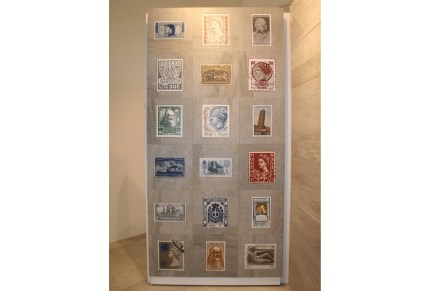 "Stamps on tiles by <a href=""http://www.vetriceramici.com""target=""_blank"">Vetriceramici</a> company, producer of glaze."