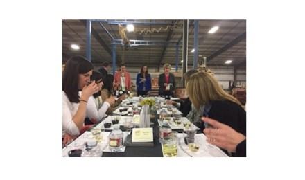 """""""Women in Stone"""" at a """"Wine & Stone"""" event. Photo: MIA"""