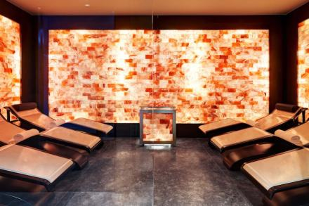 Marco Piva: Hotel Excelsior Gialla. Himalayan salt steam room.