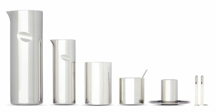 """""""Jean Nouvel, mes meubles d'architecte"""": Coffee Cylinder, 2003, Museo Alessi."""