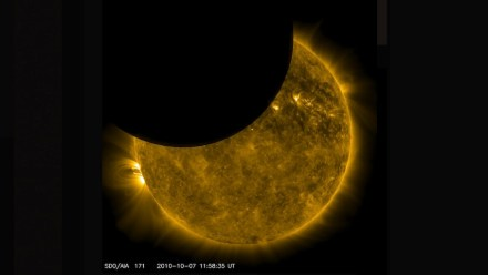 Moon transit in front of the sun seen from NASA's Solar Dynamics Observatory, or SDO. Photo: NASA/Wikimedia Commons