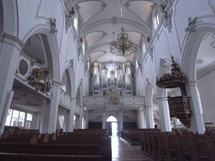 Innenraum von St. Johann Baptist in Neu-Ulm. Foto: Roland Rossner/Deutsche Stiftung Denkmalschutz