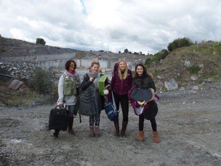 Fotoshooting im Steinbruch von McKeon Stone in Irland.