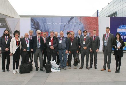 Part of the Euroroc-visitor's group at the Fair.