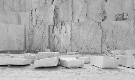 Carrara marble quarry.