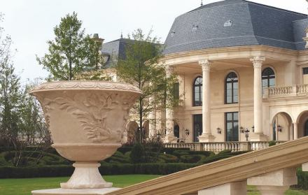One of the projects for which GLS Stone Products supplied the décor elements.