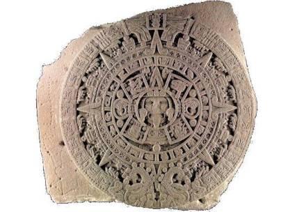 Der Sonnenstein der Azteken. Quelle: Wikimedia Commons