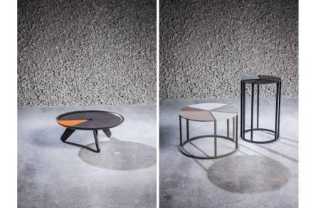 """<a href=""""https://www.stoneitaliana.com/""""target=""""_blank"""">Stone Italiana</a>: """"Prospettiva Stone"""" in quarz composite. Left: Design Lorenzo Palmeri, right: Design Arseny Leonovich."""
