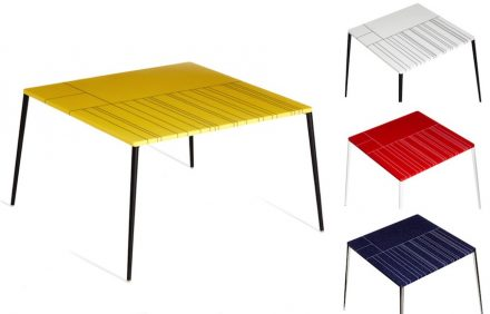 Franco Eccel: table and side-tables.