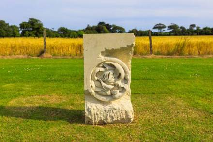 "Stephen Burke: ""Washed Salad"", Portland Stone, 90 x 50 cm."