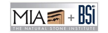 The logo of MIA+BSI: the Natural Stone Institute